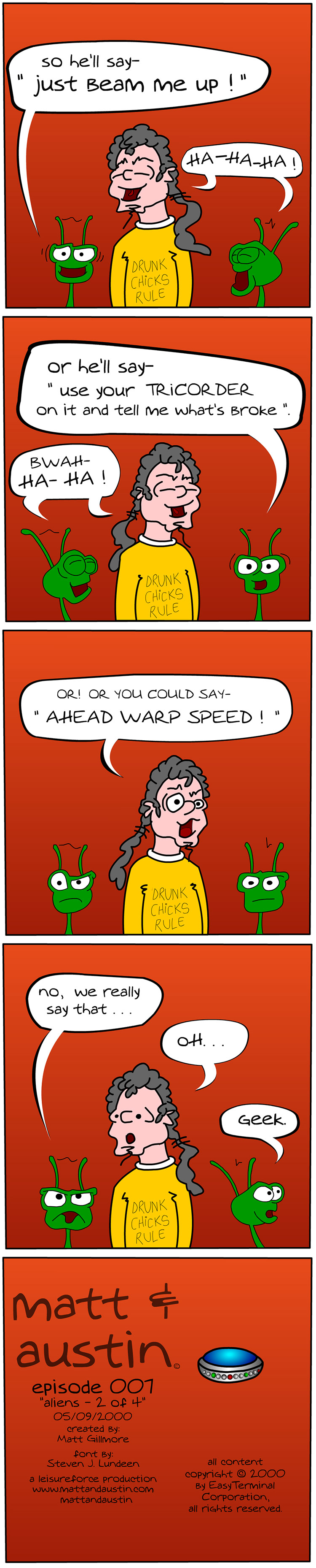 Webcomic the Matt and Austin Comic Strip 007 Aliens 2 of 4