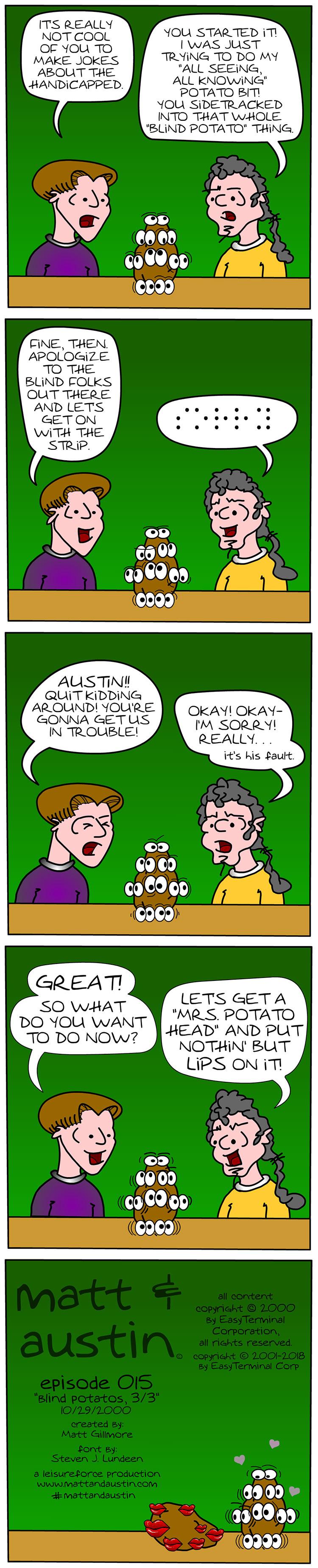 Webcomic The Matt And Austin Comic Strip #015 Blind Potatoes 3 of 3